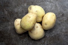 Raw potatoes Royalty Free Stock Photos