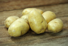 Raw potatoes Stock Image