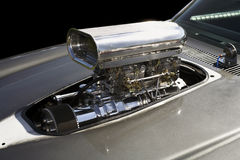 Raw Power. Supercharged V8 engine Stock Images