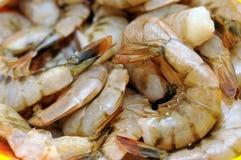 Raw prawn. Closeup of raw prawn dish Stock Photo
