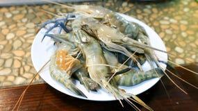Raw prawn or raw shrimp. Dish Stock Photo
