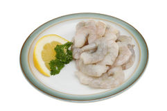 Raw prawns Royalty Free Stock Image