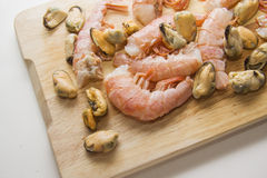 Raw prawns ready for cooking Stock Image