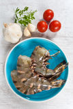 Raw prawns tails Royalty Free Stock Photography