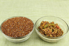 Raw and Prepared Quinoa Stock Images