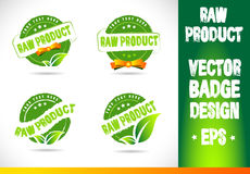 Raw product Badge Logo Vector Stock Images