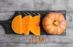 Raw pumpkin pieces Stock Image
