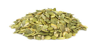 Raw pumpkin seeds Stock Images