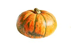 Raw pumpkin on a white isolated background Stock Photography