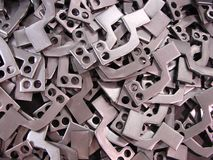 Raw punched steel parts Stock Photography
