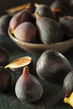 Raw Purple Organic Figs. On a Background Stock Image