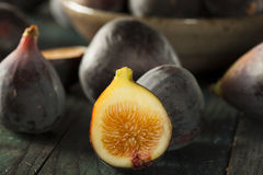 Raw Purple Organic Figs Stock Image