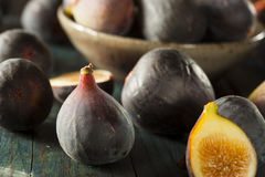 Raw Purple Organic Figs Royalty Free Stock Photos