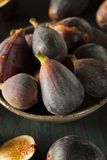 Raw Purple Organic Figs. On a Background Royalty Free Stock Photo