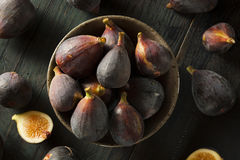 Raw Purple Organic Figs. On a Background Stock Photography