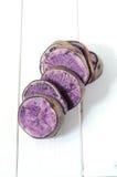 Raw purple potato Stock Photos