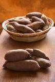 Raw Purple Sweet Potato Royalty Free Stock Photos