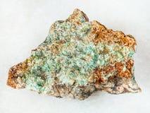 raw Pyrophyllite stone on white Royalty Free Stock Photography