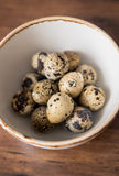 Raw quail eggs Stock Photo