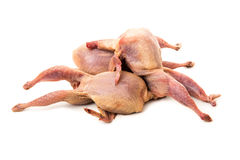Raw quails Royalty Free Stock Images