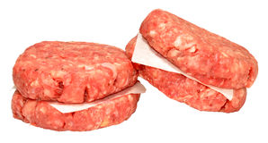 Raw Quarter Pound Beef Burgers Stock Image