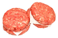 Raw Quarter Pound Beef Burgers Royalty Free Stock Photo