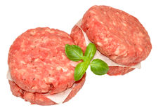 Raw Quarter Pound Beef Burgers Royalty Free Stock Image