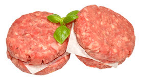 Raw Quarter Pound Beef Burgers Stock Photo