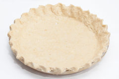 Raw quiche lorraine dough in the  baking dish ready to be baked Stock Photography