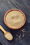 Raw quinoa seeds Stock Image