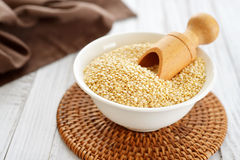 Raw quinoa seeds Stock Photography