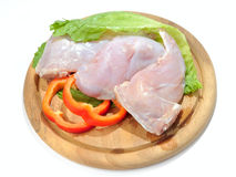 Raw rabbit meat Royalty Free Stock Images