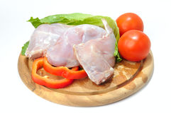 Raw rabbit meat Stock Photos