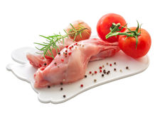 Raw rabbit meat Stock Image