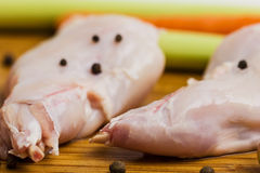 Raw rabbit meat Stock Photo