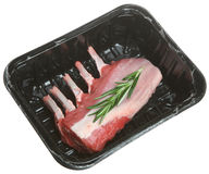 Raw Rack of Lamb Stock Image