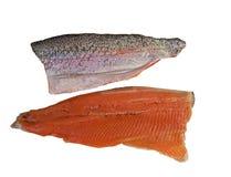Raw rainbow trout filet stock photos