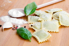 Raw ravioli Royalty Free Stock Photos