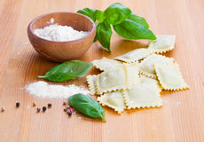 Raw ravioli Stock Images