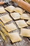 Raw ravioli Stock Images