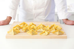 Uncooked ravioli Royalty Free Stock Image