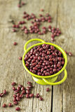 Raw red beans Stock Photos