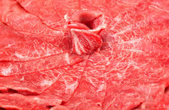 Raw red beef slice Royalty Free Stock Photography