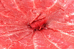 Raw red beef slice Stock Photo