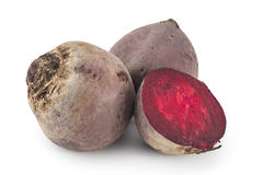 Raw red beetroots Royalty Free Stock Image