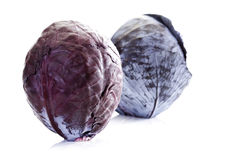 Raw red cabbages (Brassica oleracea) Royalty Free Stock Photo