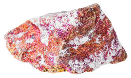 Raw red Chalcopyrite stone isolated Royalty Free Stock Image