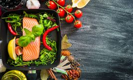 Raw red fish Stock Images