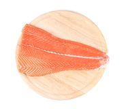 Raw red fish on wooden board Royalty Free Stock Photo