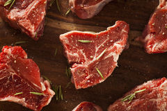 Raw Red Lamb Chops Stock Image